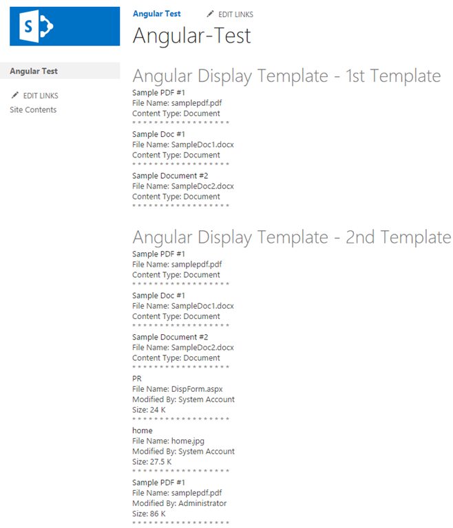 Replacing sharepoint 2013 item templates with angularjs rightpoint to leverage angular with these data sets we can filter and group based on a column we can combine like items from multiple result sources maxwellsz