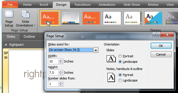 powerpoint aspect ratios and custom masters rightpoint